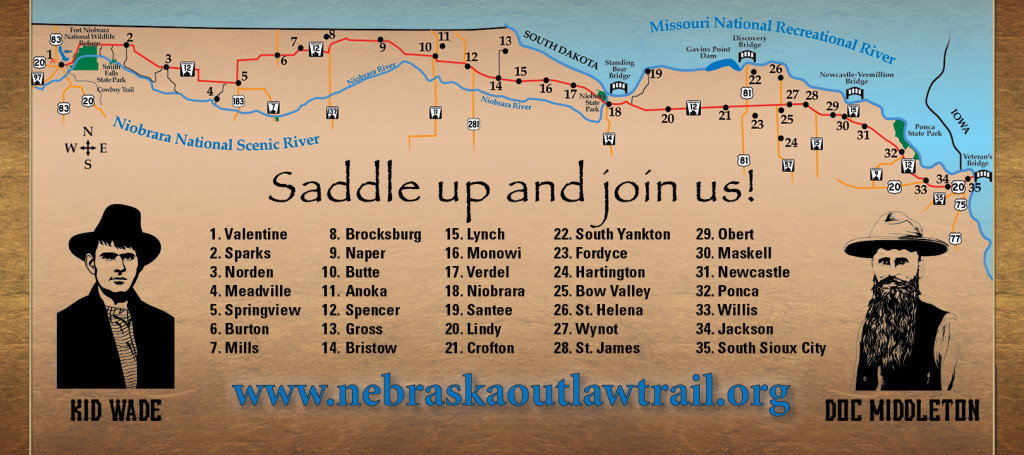 Nebraska Outlaw Trail Map